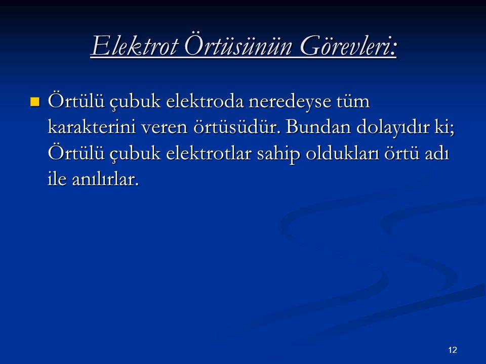 Elektrot Örtüsünün Görevleri: