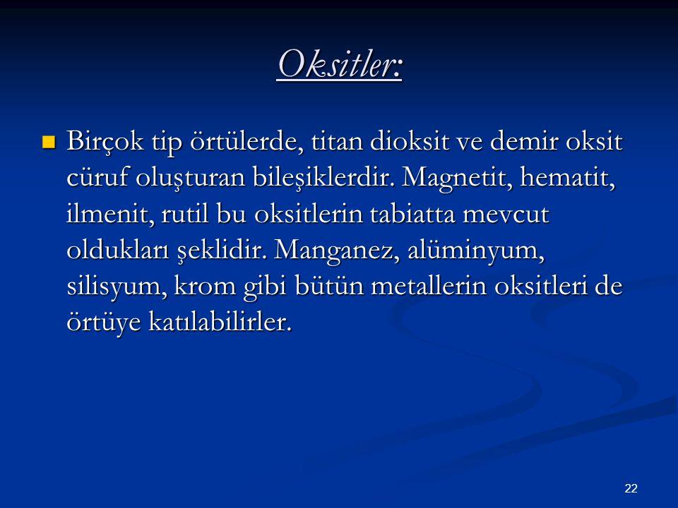 Oksitler: