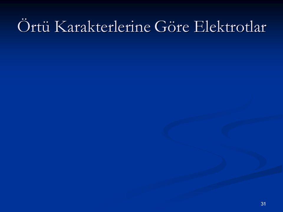 Örtü Karakterlerine Göre Elektrotlar