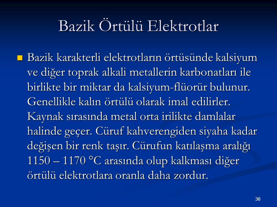 Bazik Örtülü Elektrotlar