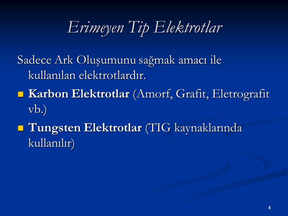 Erimeyen Tip Elektrotlar