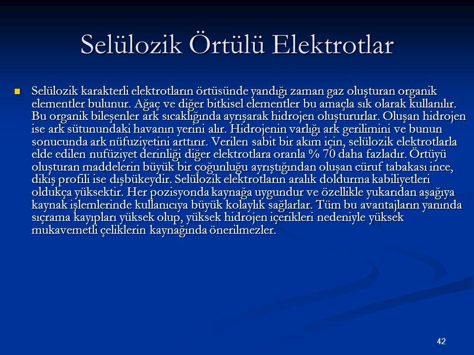 Selülozik Örtülü Elektrotlar