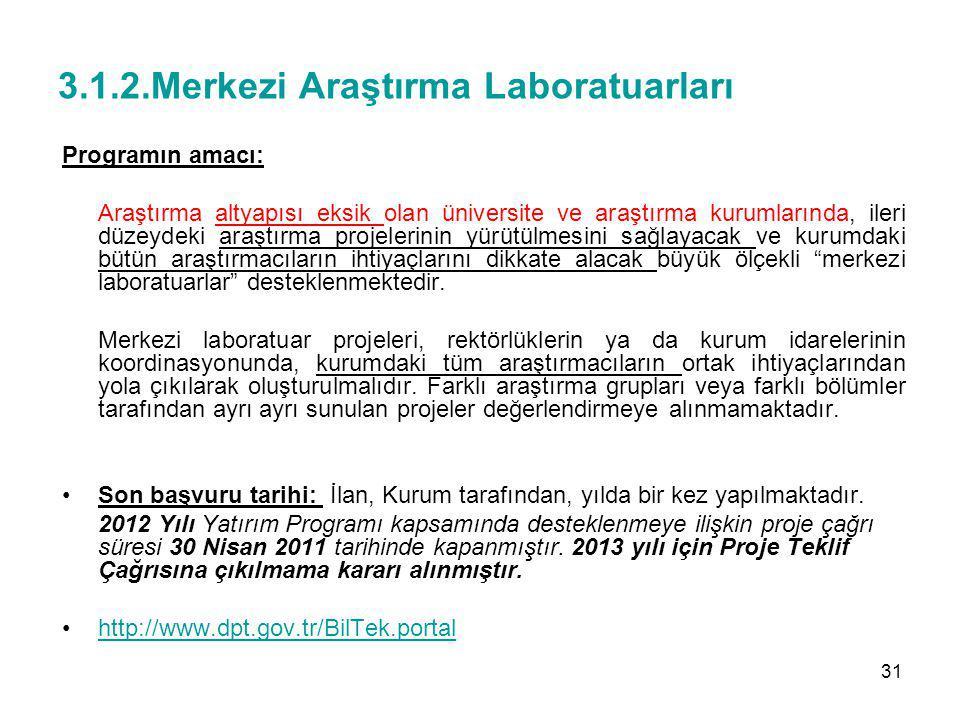 3.1.2.Merkezi Araştırma Laboratuarları