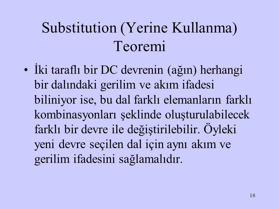 Substitution (Yerine Kullanma) Teoremi