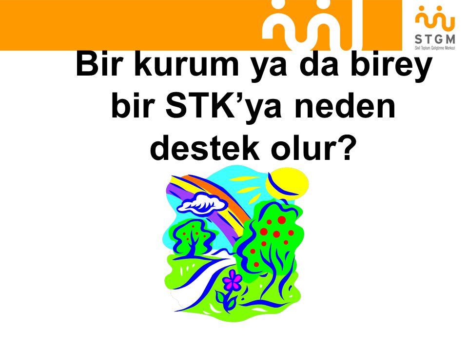 Bir kurum ya da birey bir STK'ya neden destek olur