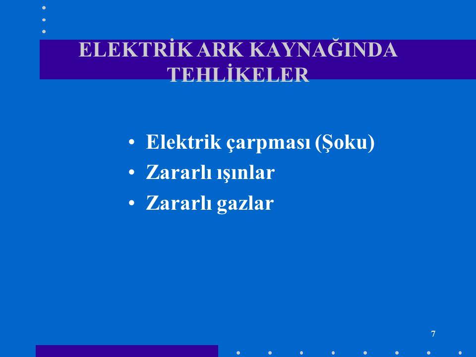 ELEKTRİK ARK KAYNAĞINDA TEHLİKELER