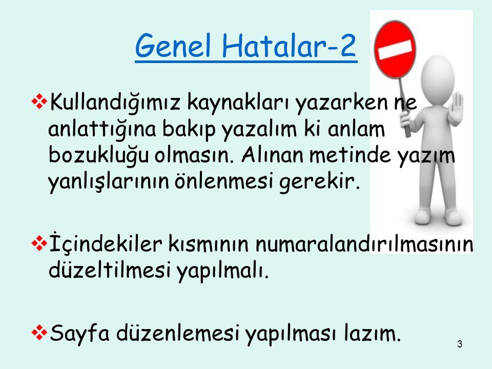 Genel Hatalar-2