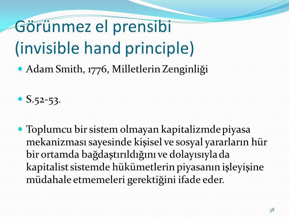 Görünmez el prensibi (invisible hand principle)