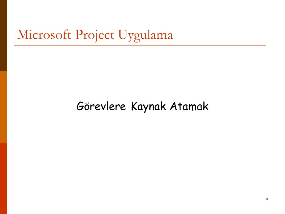 Microsoft Project Uygulama
