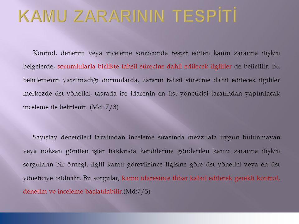 KAMU ZARARININ TESPİTİ