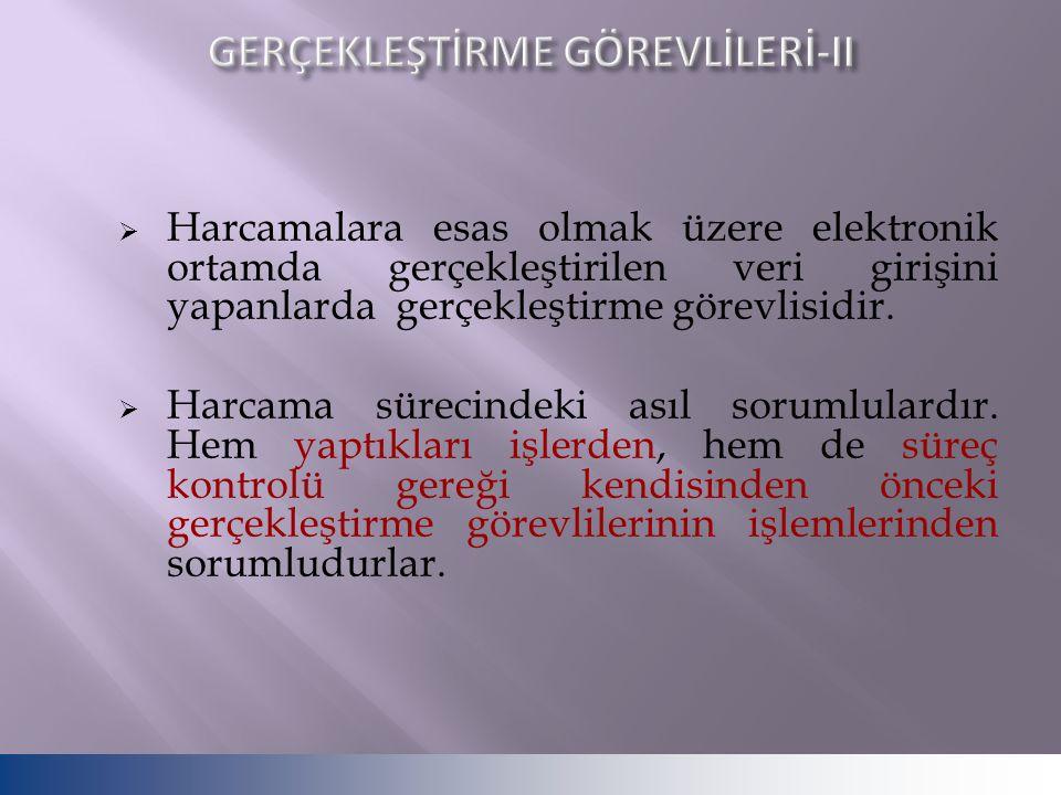 GERÇEKLEŞTİRME GÖREVLİLERİ-II