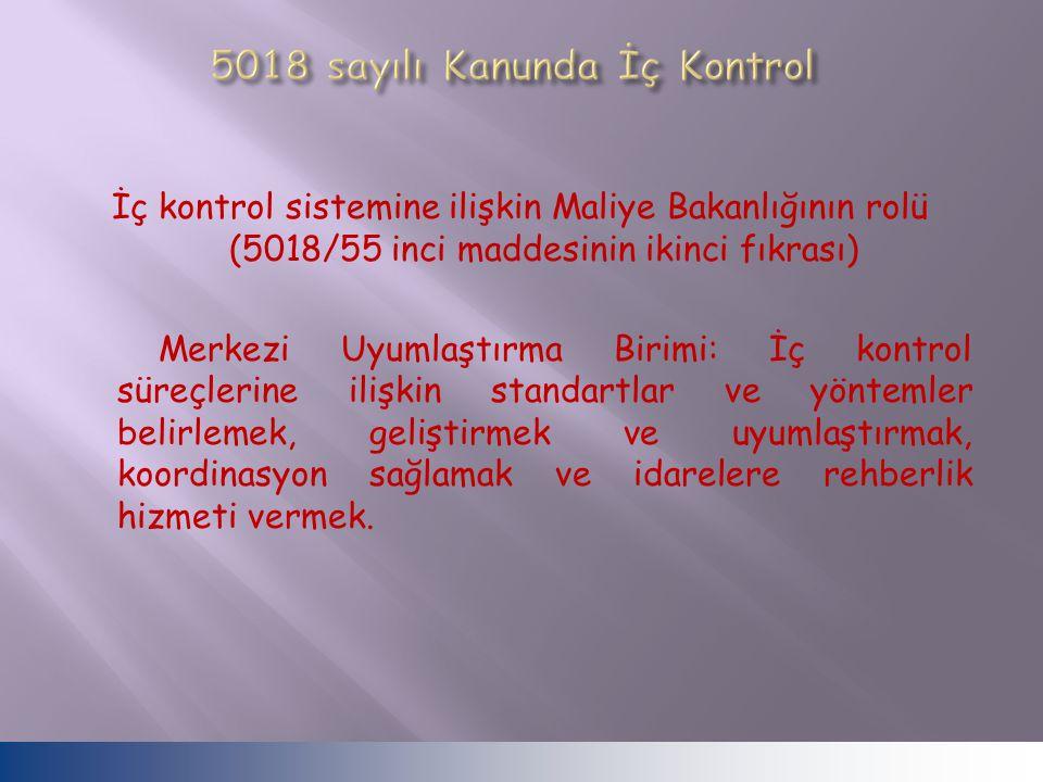 5018 sayılı Kanunda İç Kontrol