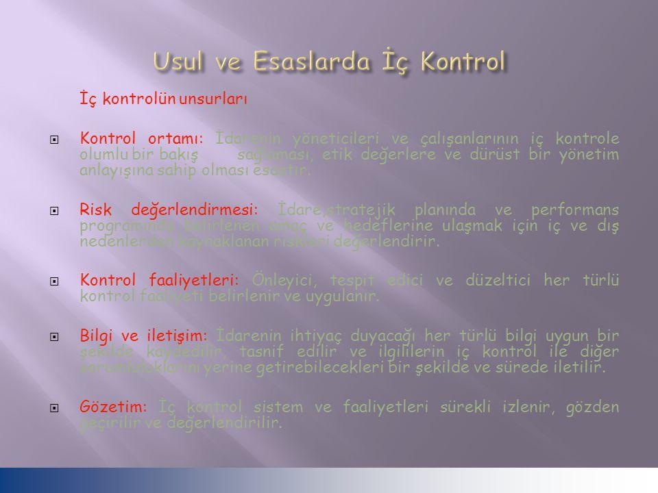 Usul ve Esaslarda İç Kontrol
