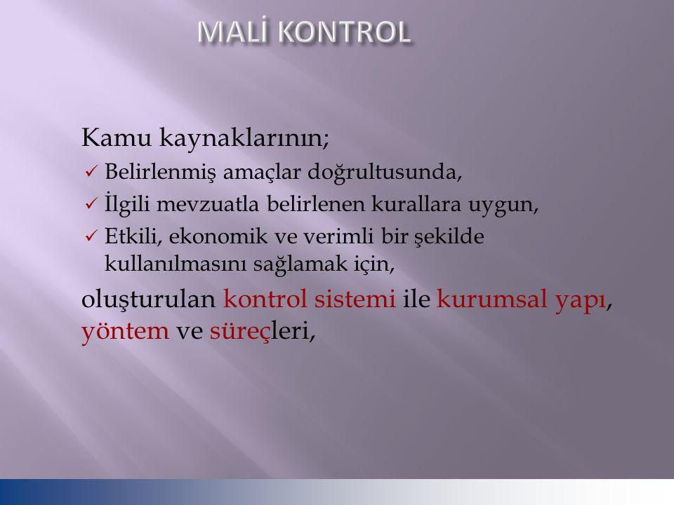 MALİ KONTROL Kamu kaynaklarının;