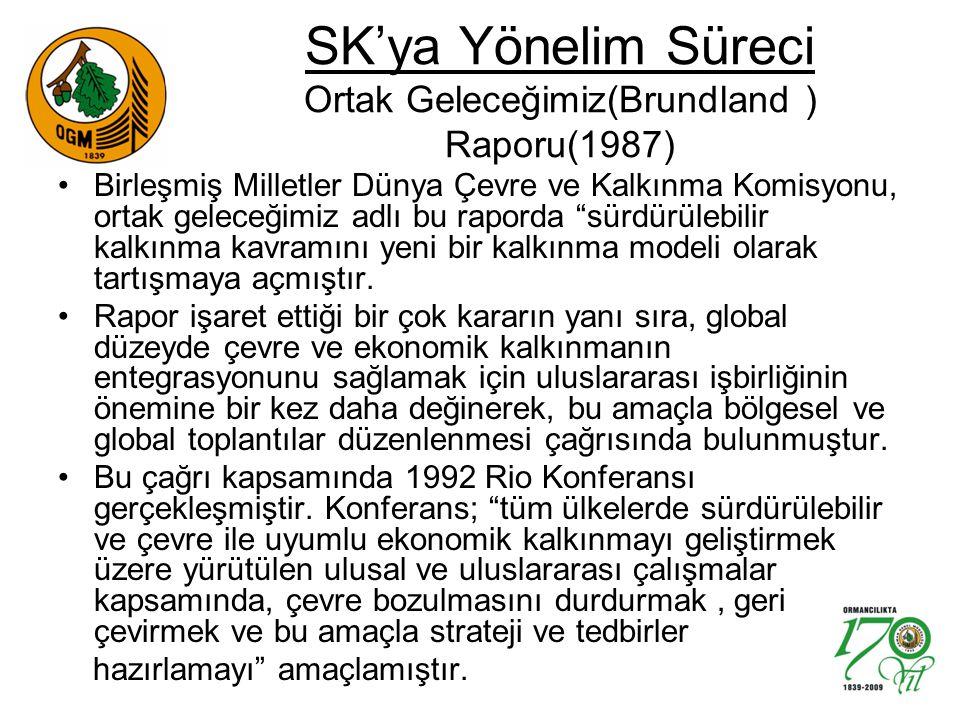 SK'ya Yönelim Süreci Ortak Geleceğimiz(Brundland ) Raporu(1987)