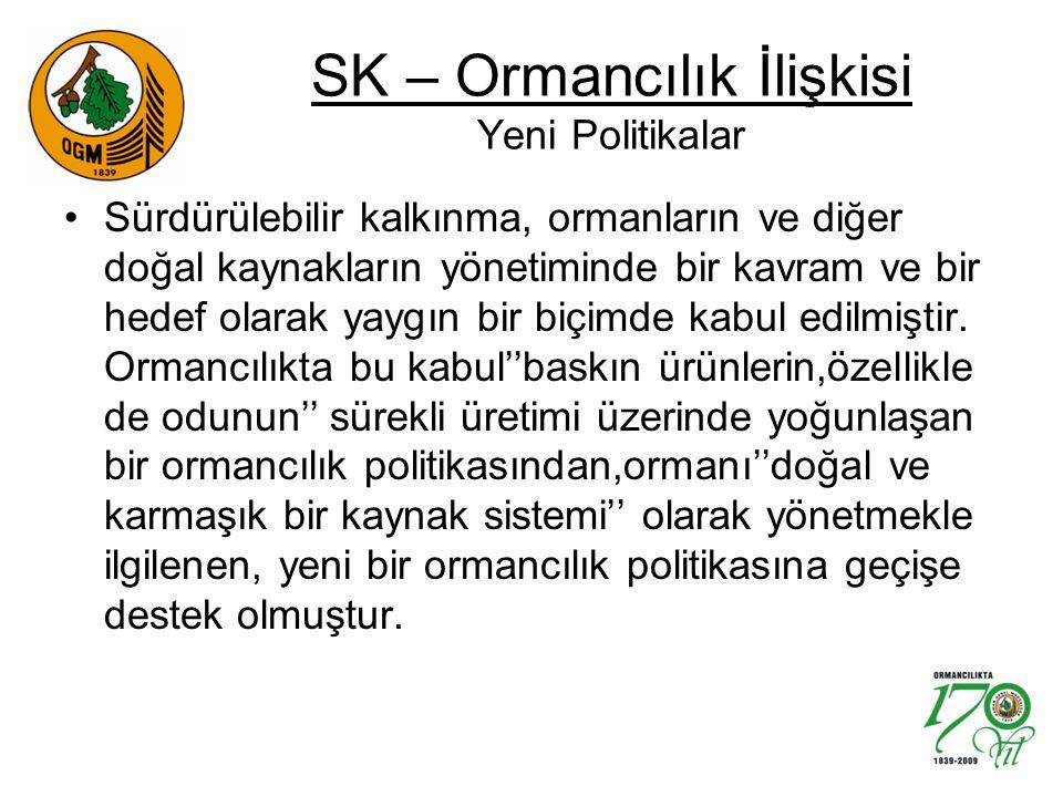 SK – Ormancılık İlişkisi Yeni Politikalar