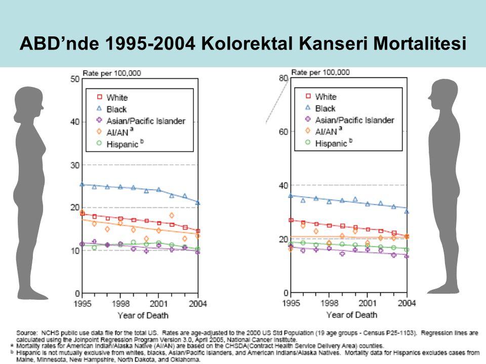 ABD'nde 1995-2004 Kolorektal Kanseri Mortalitesi