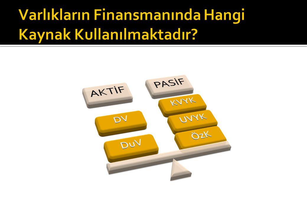 Varlıkların Finansmanında Hangi Kaynak Kullanılmaktadır