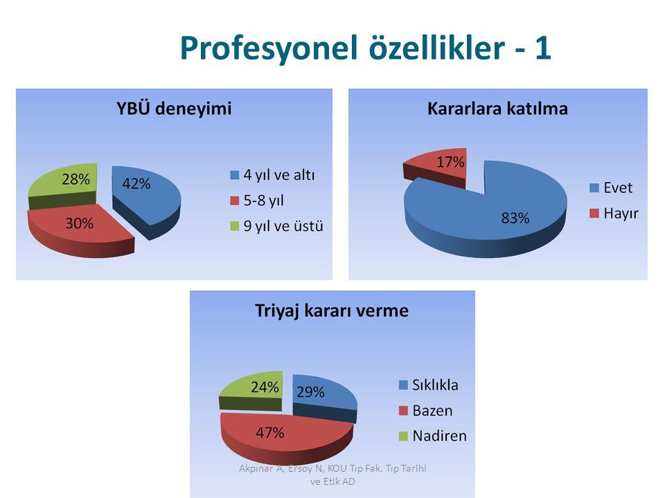 Profesyonel özellikler - 1