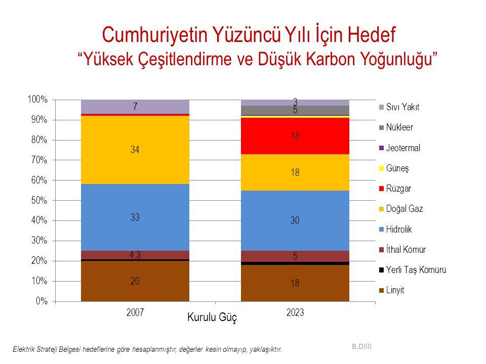 Cumhuriyetin Yüzüncü Yılı İçin Hedef Yüksek Çeşitlendirme ve Düşük Karbon Yoğunluğu