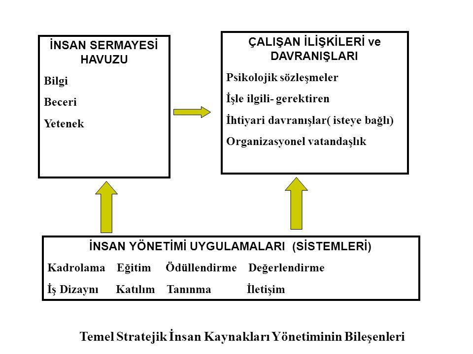 Temel Stratejik İnsan Kaynakları Yönetiminin Bileşenleri