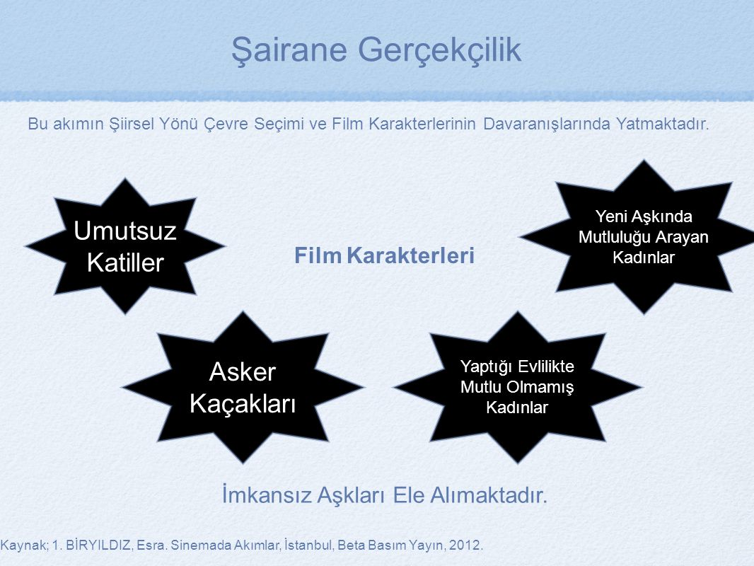 Şairane Gerçekçilik Umutsuz Katiller Asker Kaçakları Film Karakterleri