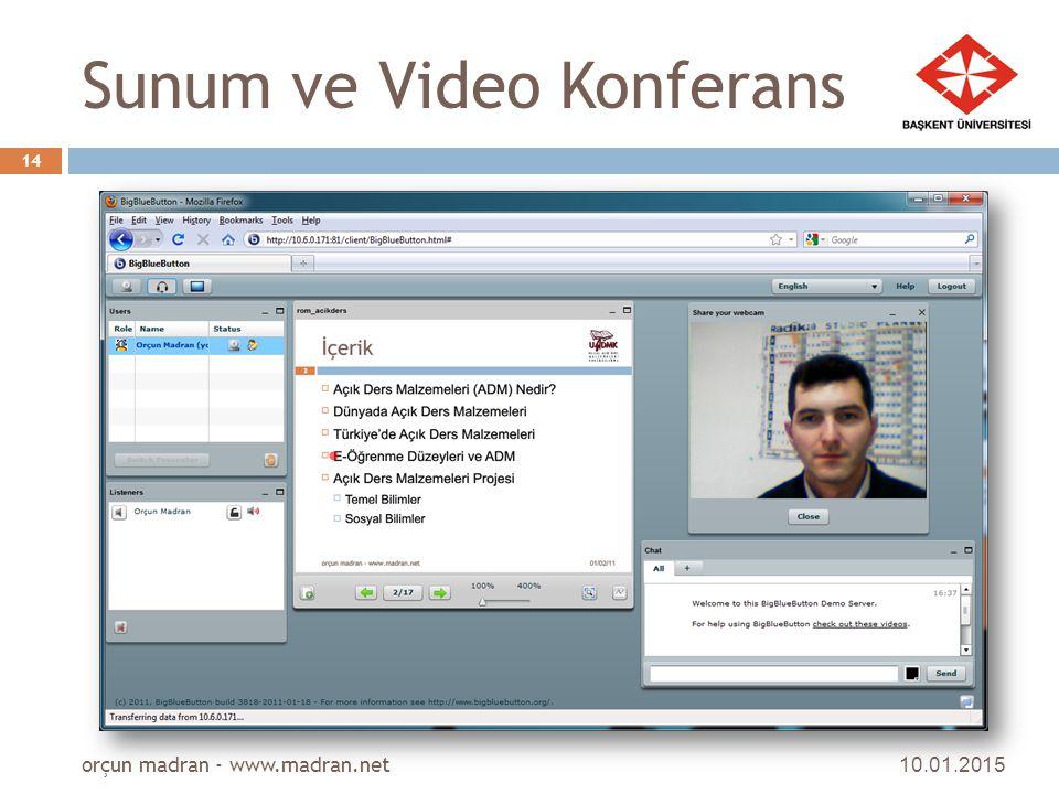 Sunum ve Video Konferans