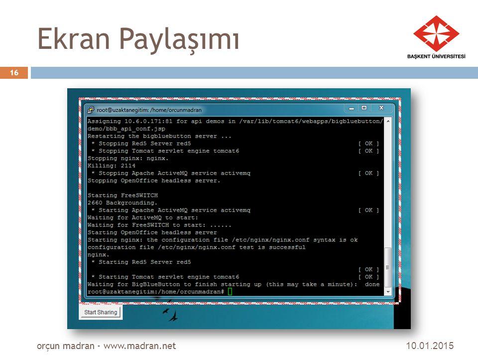 Ekran Paylaşımı orçun madran - www.madran.net 08.04.2017