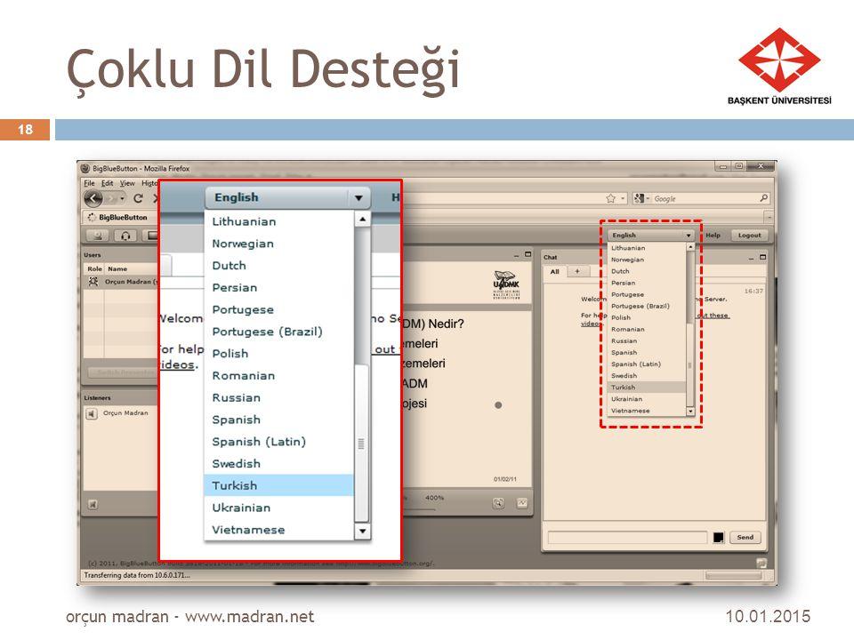 Çoklu Dil Desteği orçun madran - www.madran.net 08.04.2017