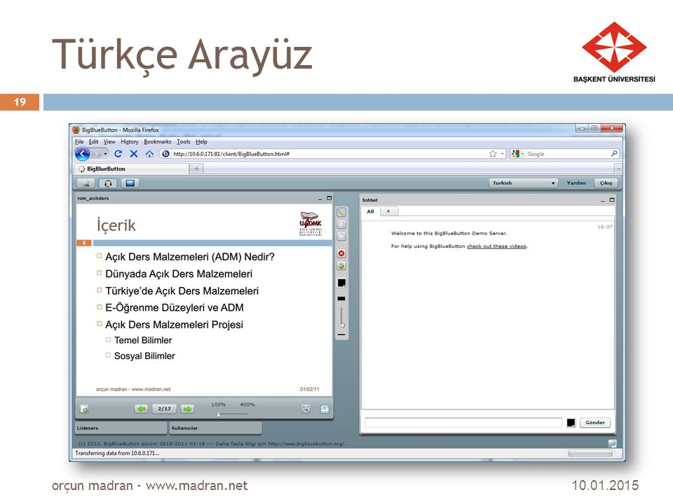 Türkçe Arayüz orçun madran - www.madran.net 08.04.2017