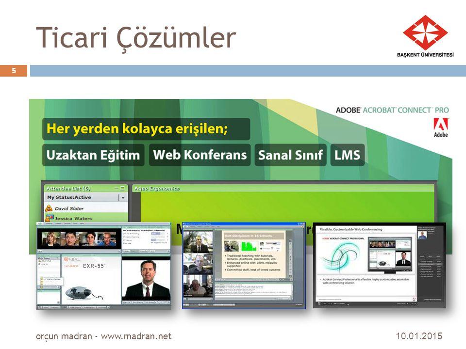 Ticari Çözümler orçun madran - www.madran.net 08.04.2017