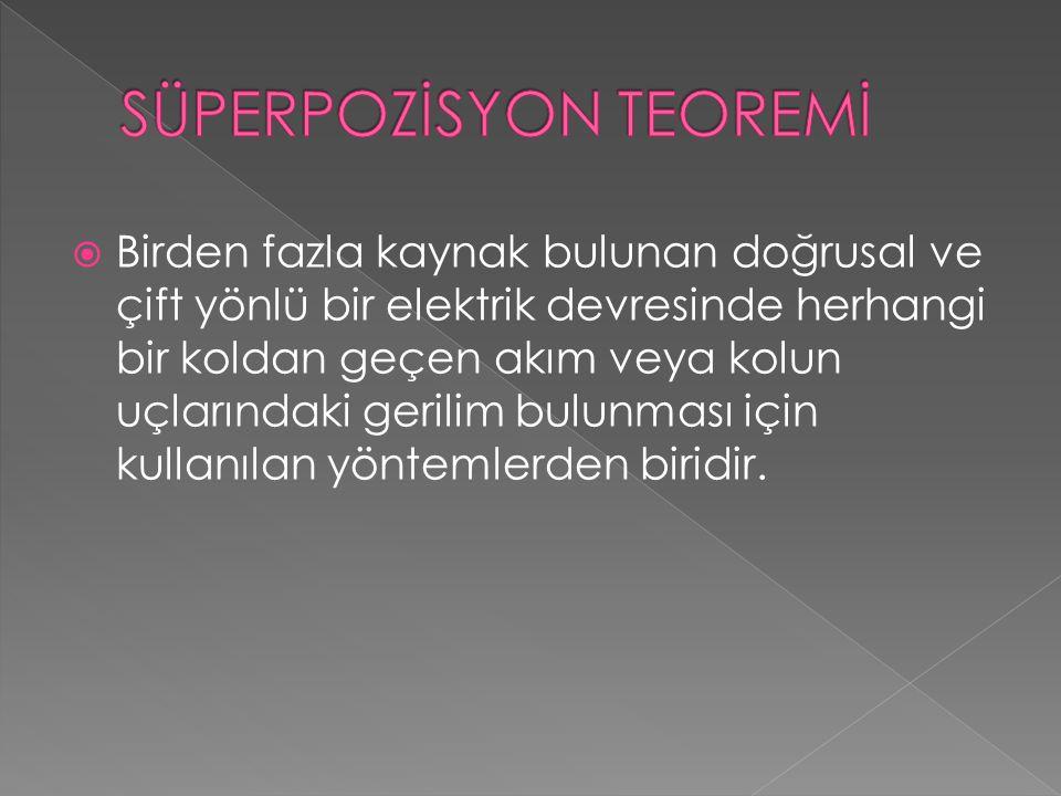 SÜPERPOZİSYON TEOREMİ