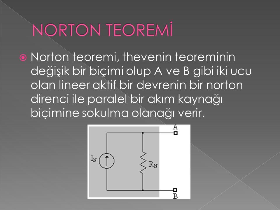 NORTON TEOREMİ