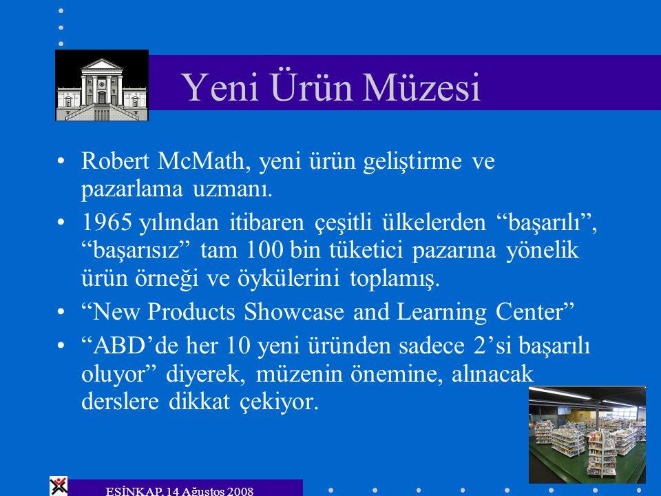 Yeni Ürün Müzesi Robert McMath, yeni ürün geliştirme ve pazarlama uzmanı.
