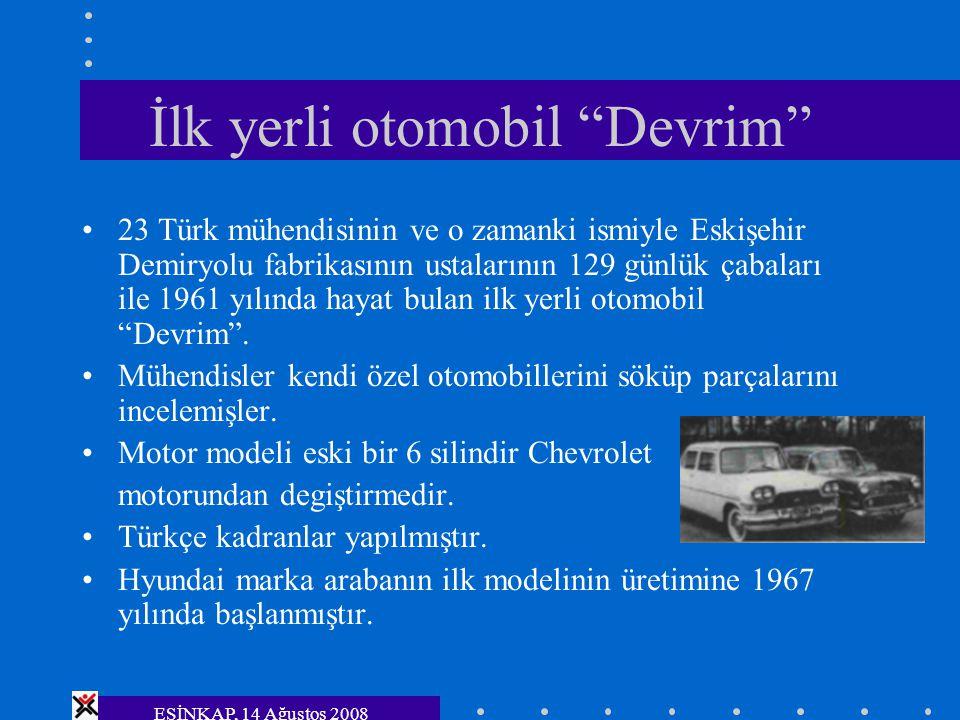 İlk yerli otomobil Devrim