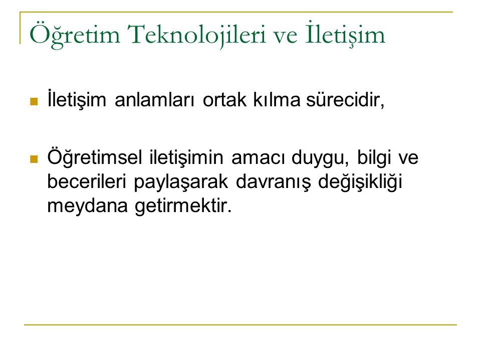 Öğretim Teknolojileri ve İletişim