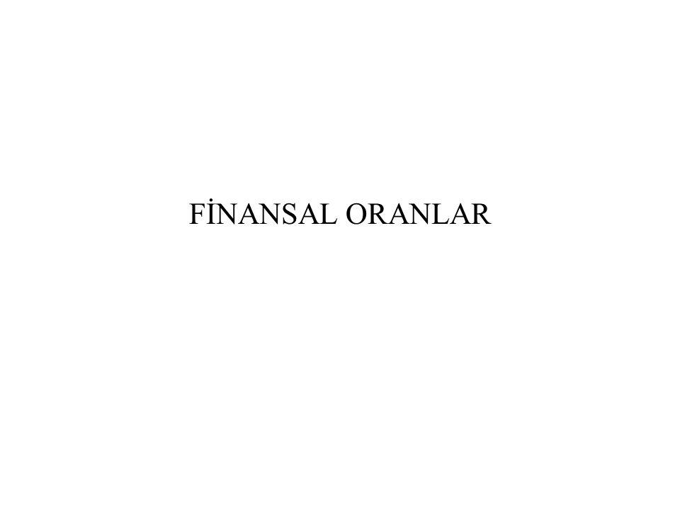 FİNANSAL ORANLAR