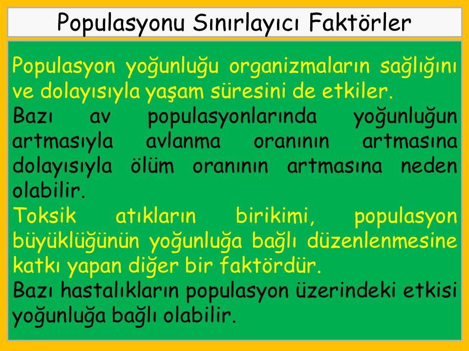 Populasyonu Sınırlayıcı Faktörler