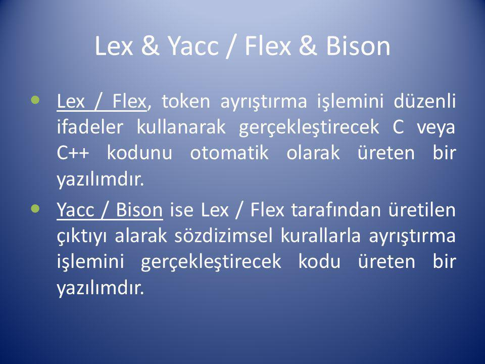 Lex & Yacc / Flex & Bison