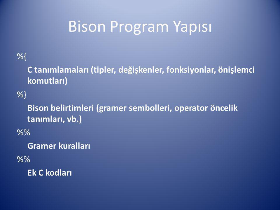 Bison Program Yapısı %{