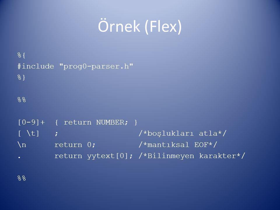 Örnek (Flex)