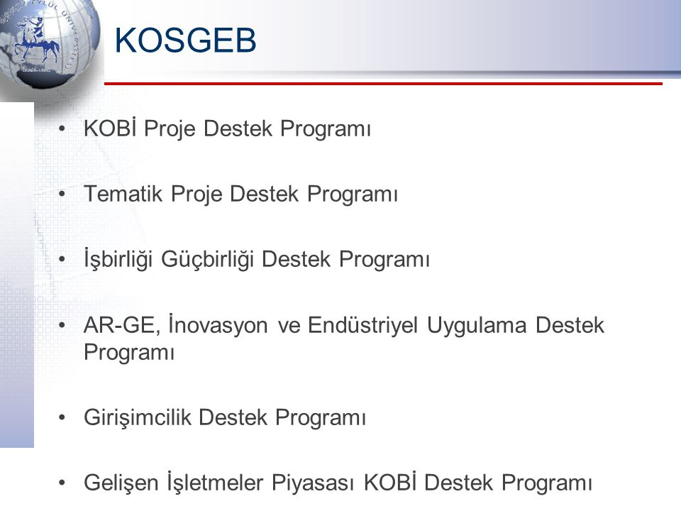 KOSGEB KOBİ Proje Destek Programı Tematik Proje Destek Programı