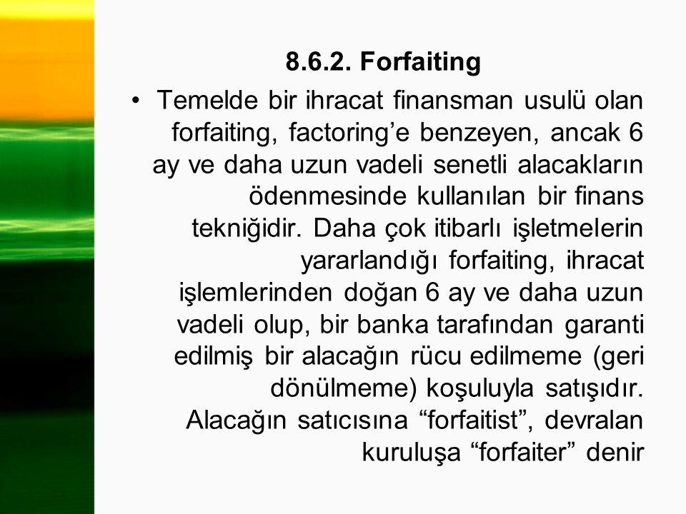 8.6.2. Forfaiting