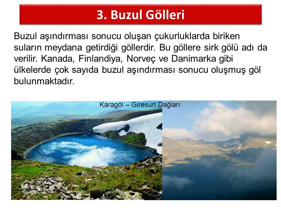 3. Buzul Gölleri