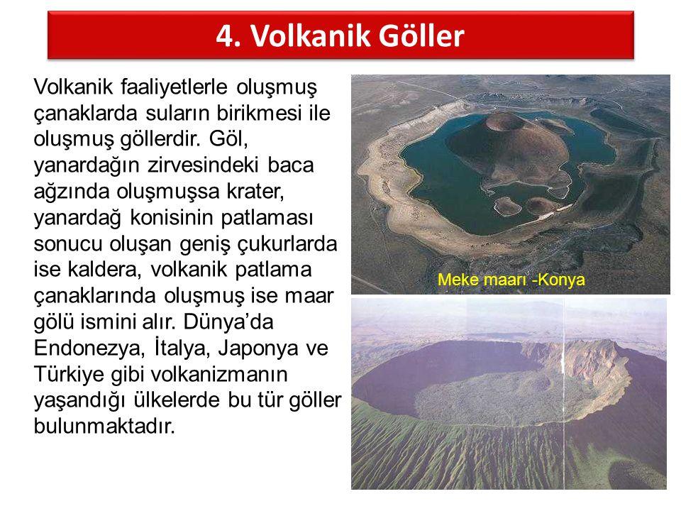 4. Volkanik Göller
