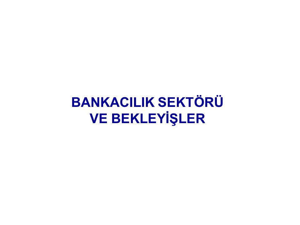 BANKACILIK SEKTÖRÜ VE BEKLEYİŞLER
