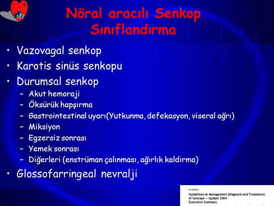 Nöral aracılı Senkop Sınıflandırma