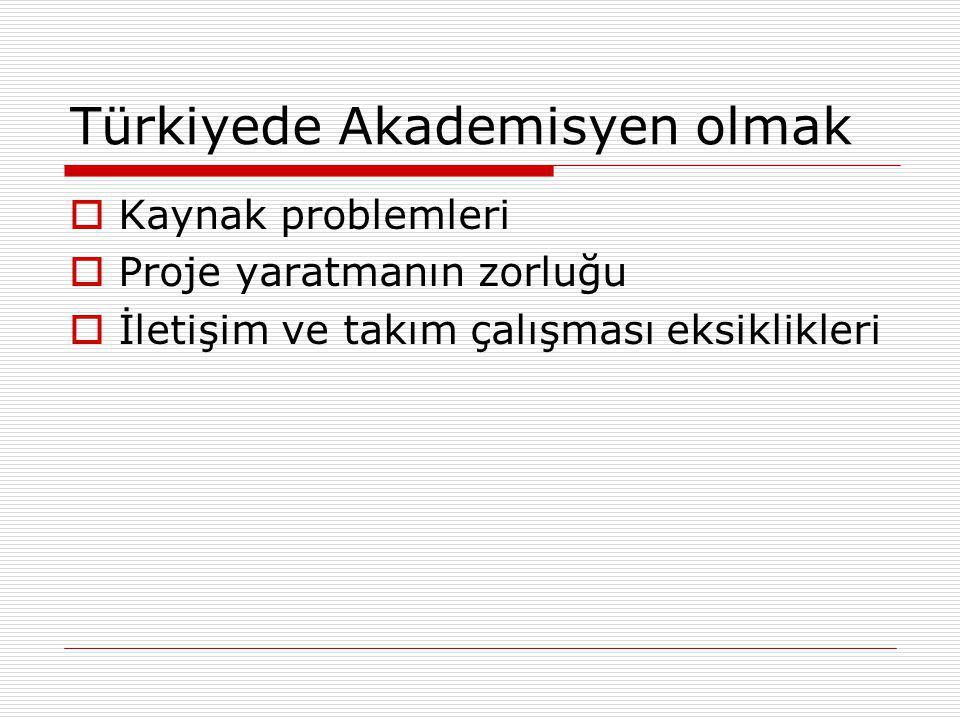 Türkiyede Akademisyen olmak
