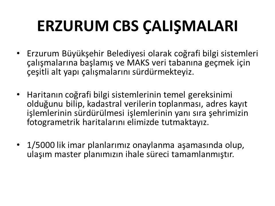 ERZURUM CBS ÇALIŞMALARI