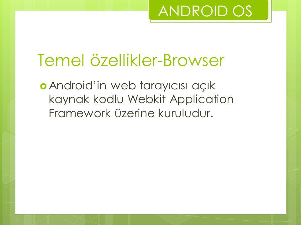 Temel özellikler-Browser